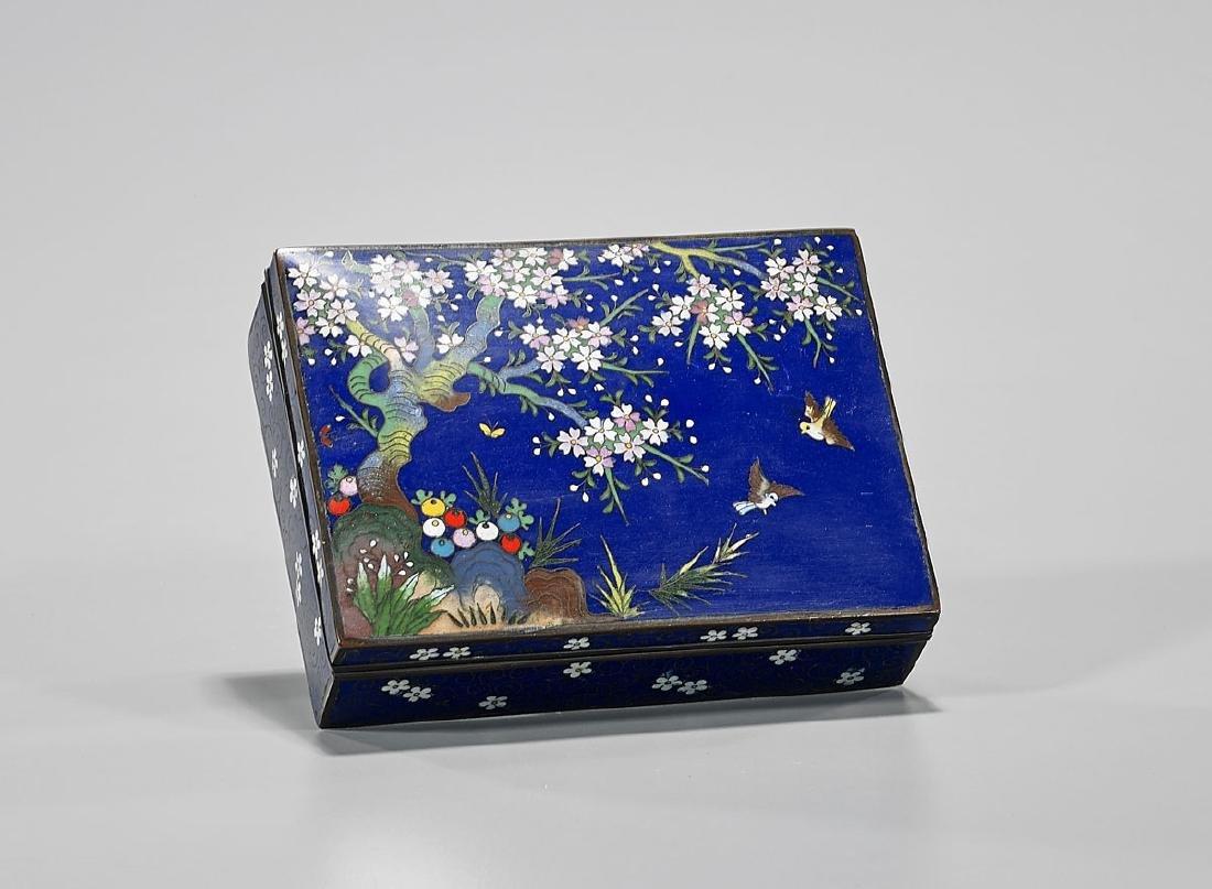 Old Japanese Cloisonne Enamel Box