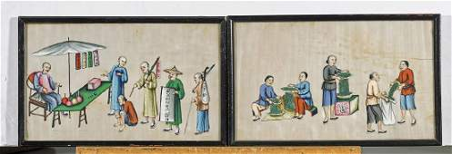 Group of Ten Various Chinese Artworks