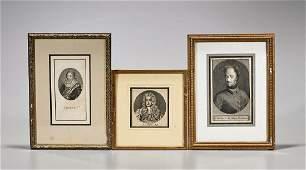 Three Portrait Engravings
