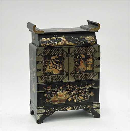 - Antique Japanese Lacquer Cabinet