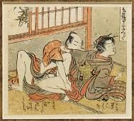 SET OF ANTIQUE SHUNGA PRINTS AFTER KORYUSAI