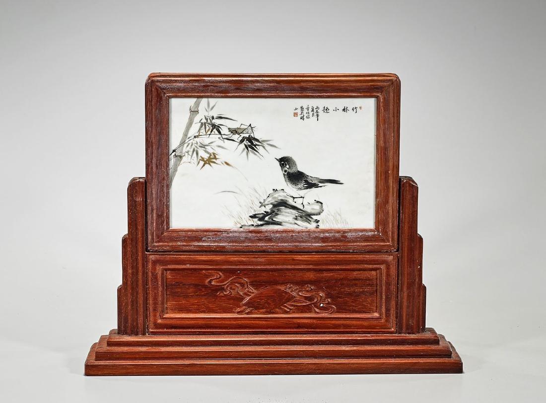 Chinese Enameled Porcelain Plaque