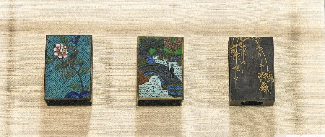 Group of Three Antique Chinese & Japanese Matchbox