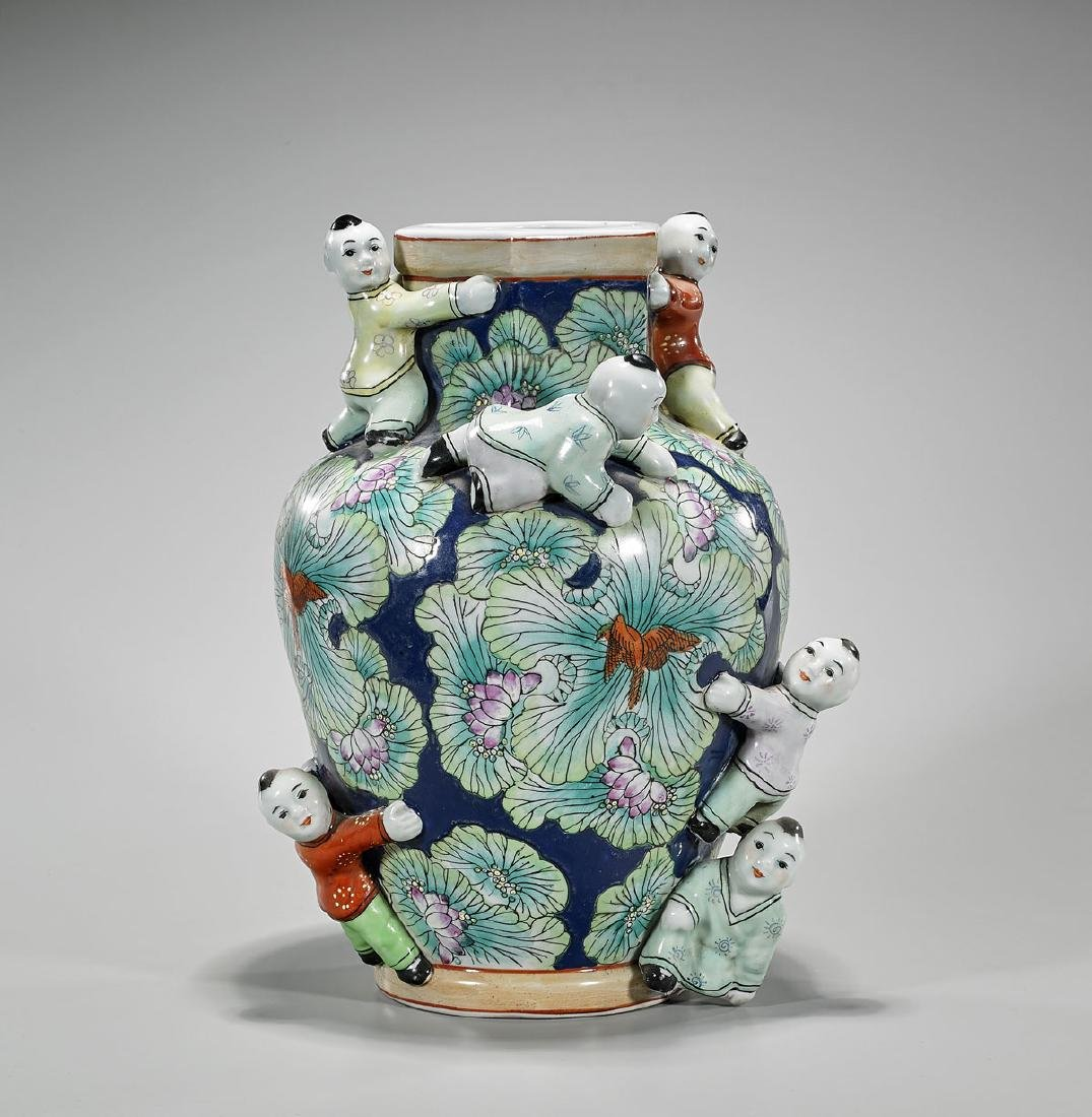 Chinese Enameled Porcelain Jar