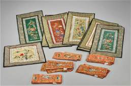 Collection of Various Chinese Silk Embroidery Panels