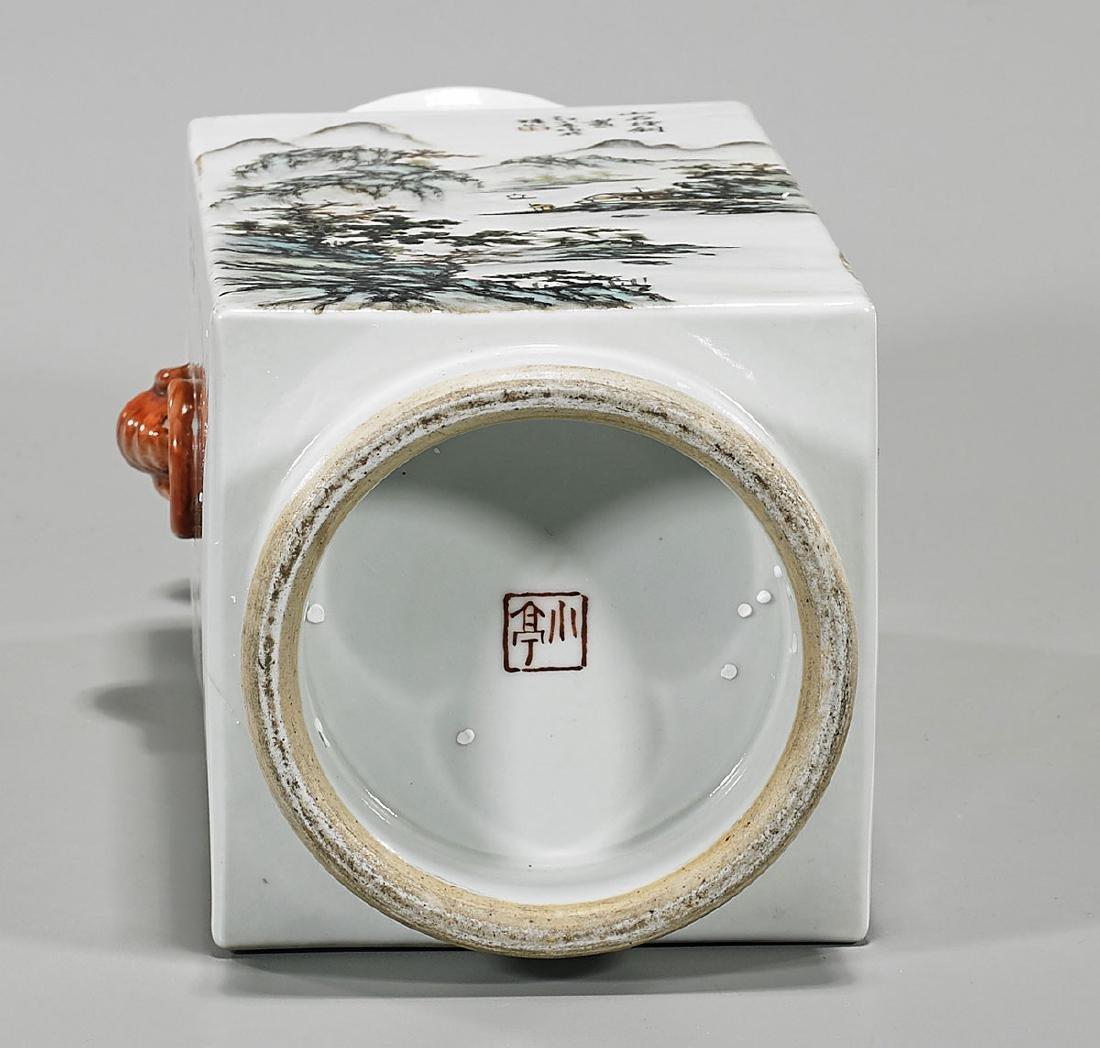 Chinese Enameled Porcelain Vase - 3