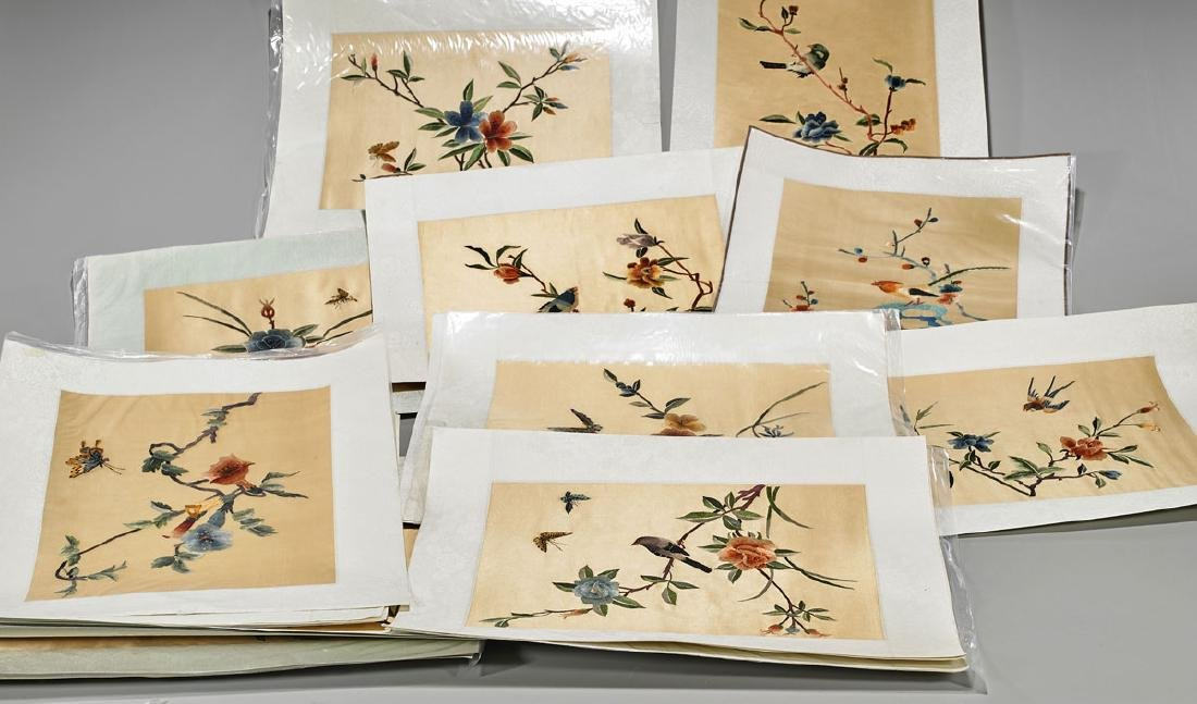 Large Collection of Various Chinese Silk Embroideries