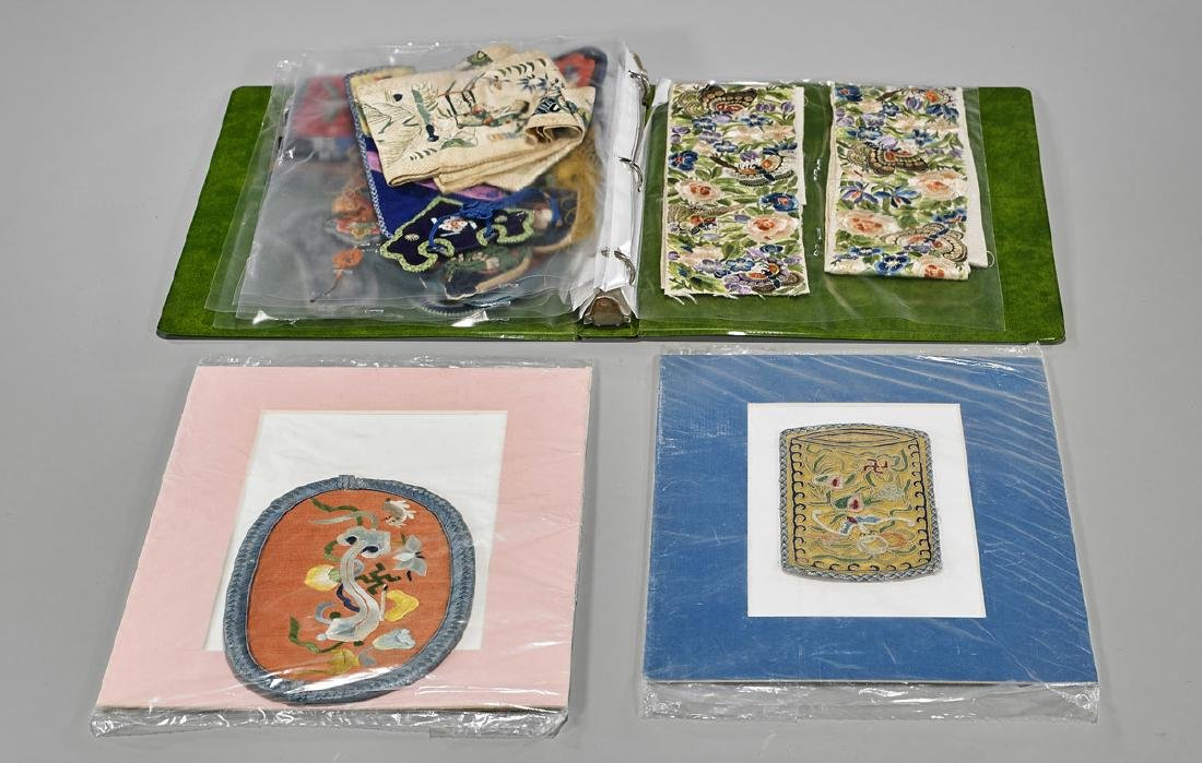 Large Collection of Various Chinese Silk Embroidery