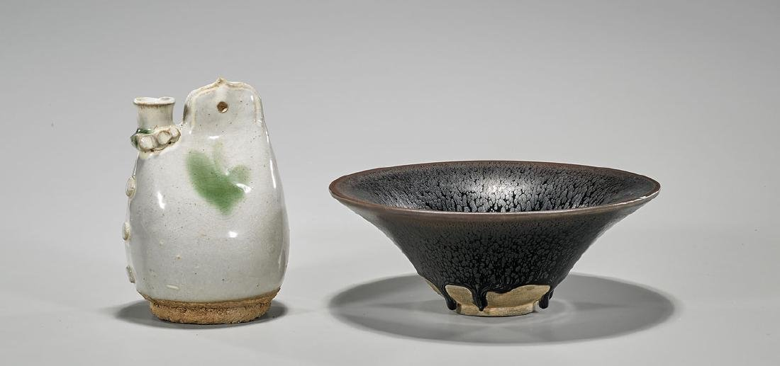 Two Chinese Glazed Pottery Pieces