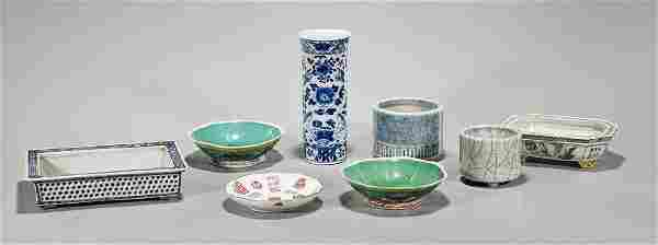 Group of Eight Old & Antique Chinese Porcelains
