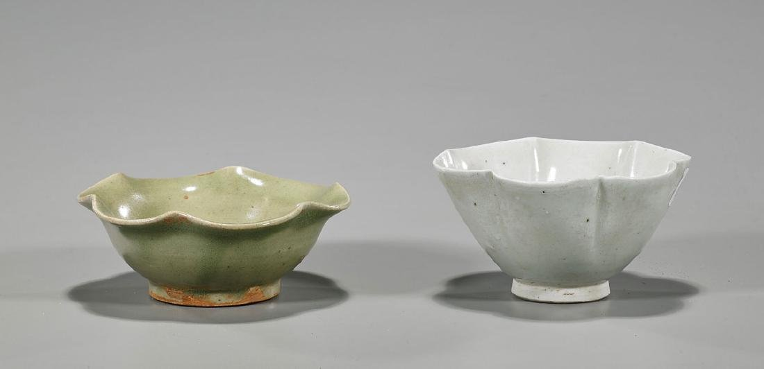 Two Antique Chinese Glazed Porcelain Bowls