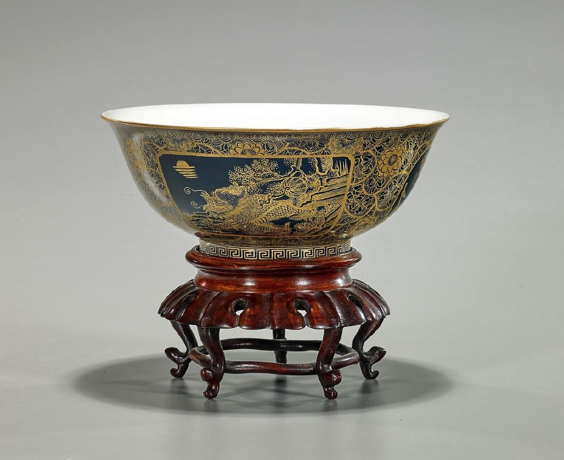 Chinese Gilt Porcelain Bowl