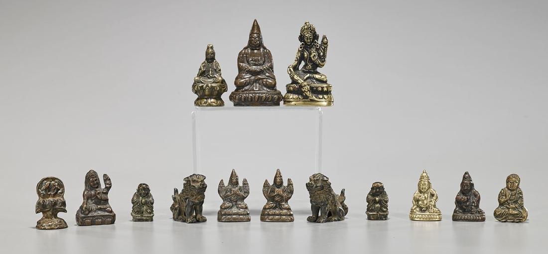 Fourteen Various Chinese & Sino-Tibetan Miniature