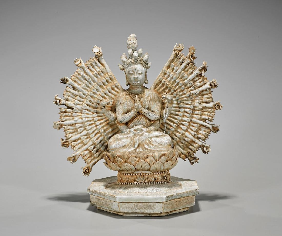 Qing-Style Porcelain Thousand-Armed Guanyin