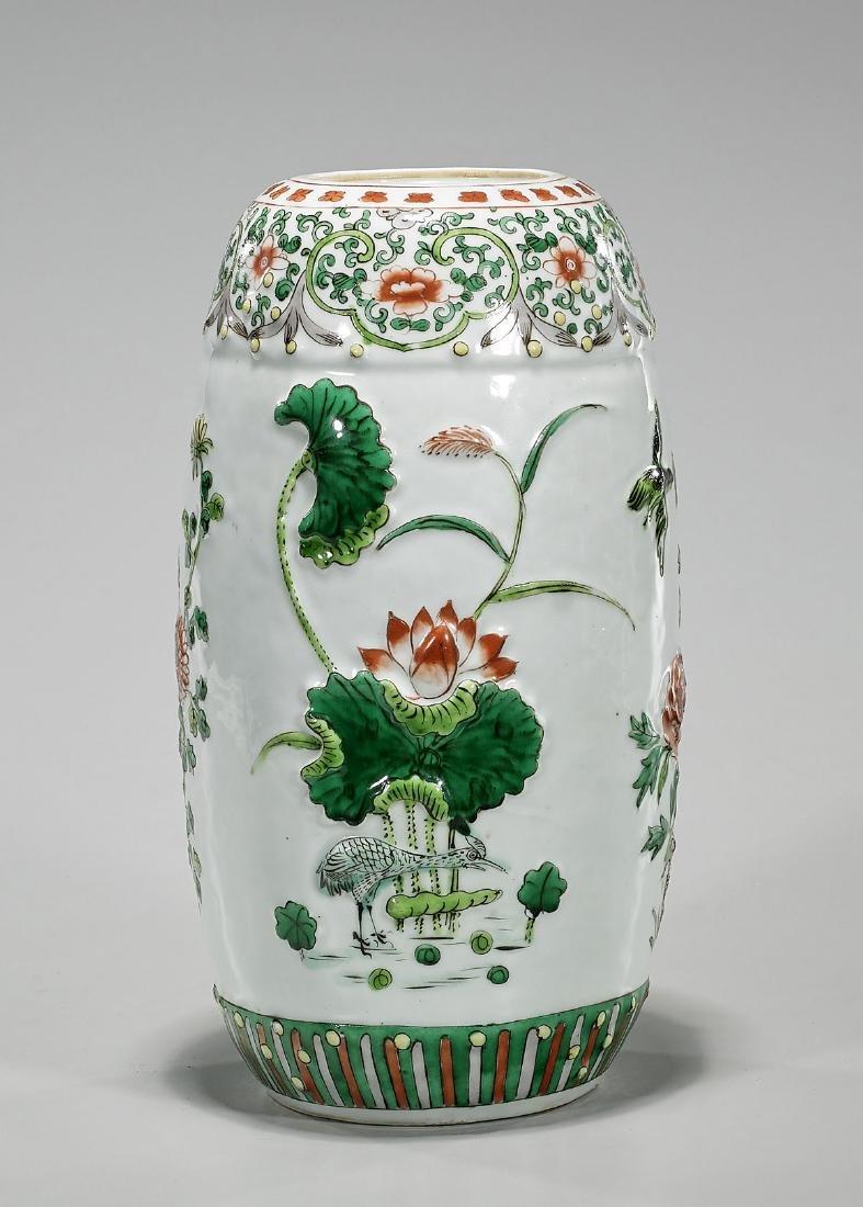 Antique Kangxi-Style Famille Verte Enameled Porcelain