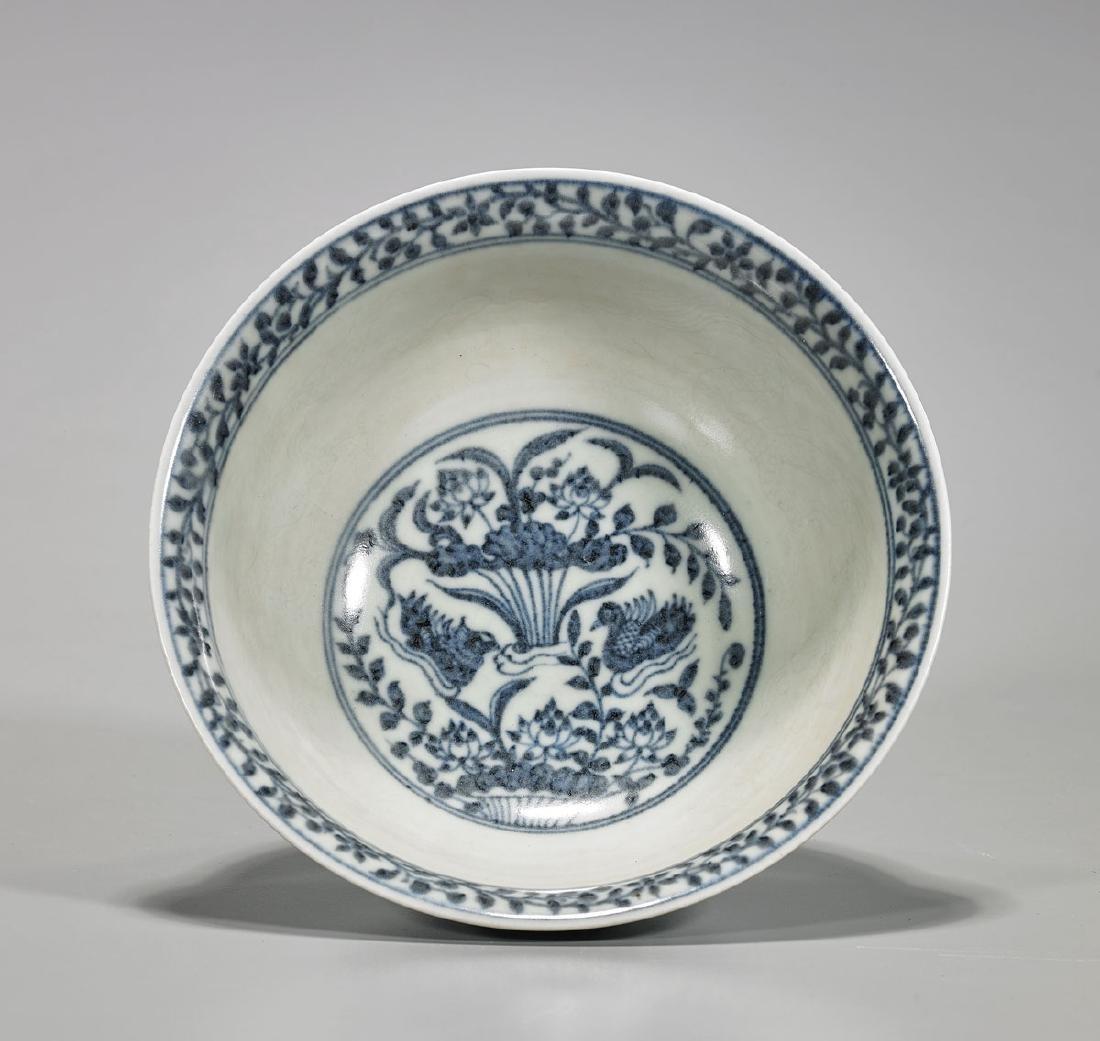 Chinese Blue & White Porcelain Bowl - 2