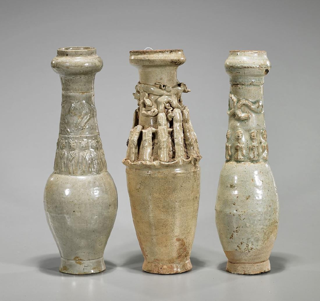 Group of Three Song Dynasty Funerary Urns