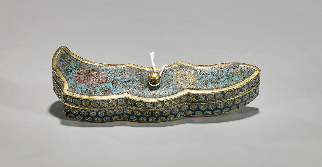 Old Chinese Cloisonne Enamel Covered Box