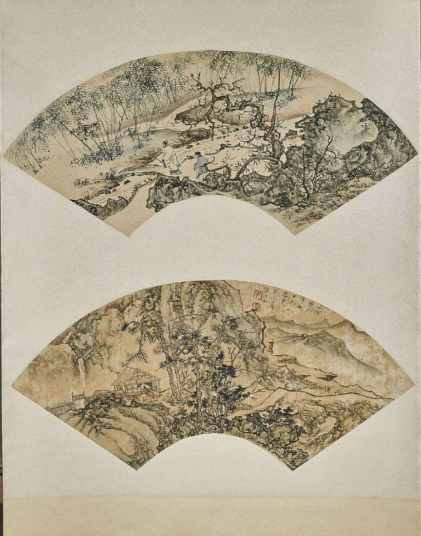 Group of Two Chinese Scrolls: After Pu Ru & Zhang - 3
