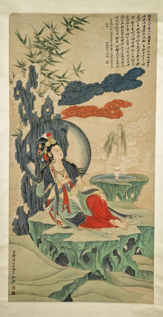 Two Chinese Scrolls: After Ding Guanpeng & Zhang Daqian