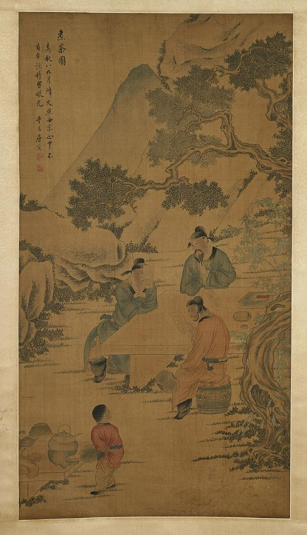 Two Chinese Silk Scrolls: After Tang Yin & Li Gonglin