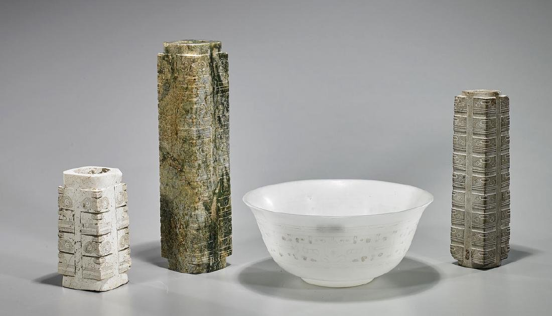 Four Chinese Archaic-Style Vessels