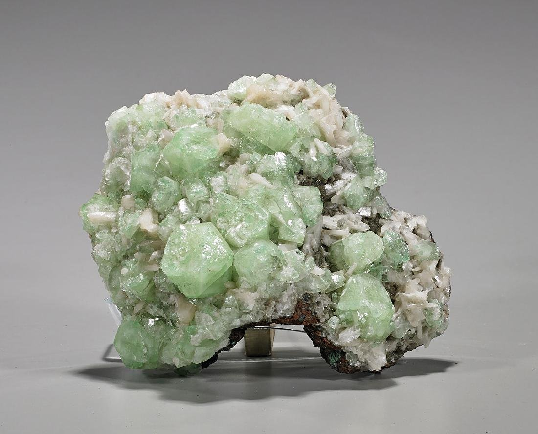 Green Apophyllite & Stillbite Specimen
