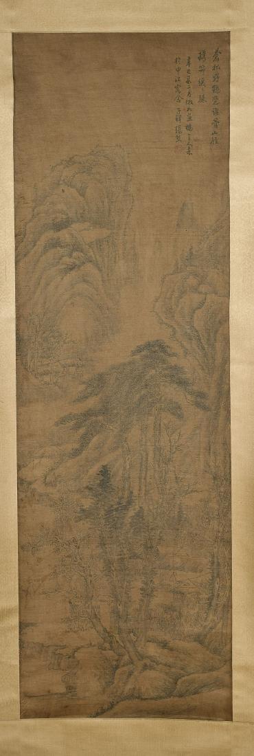 Two Chinese Silk Scrolls: After Zhang Xiong & Wu Hufan