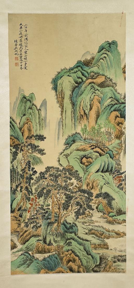 Two Chinese Silk Scrolls: After Zhang Xiong & Wu Hufan - 3