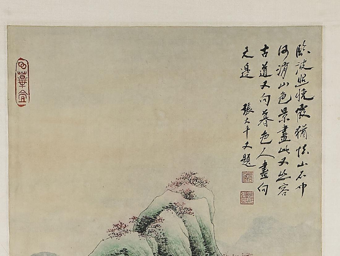 Two Chinese Scrolls: After Zhang Daqian & He Haixia - 2