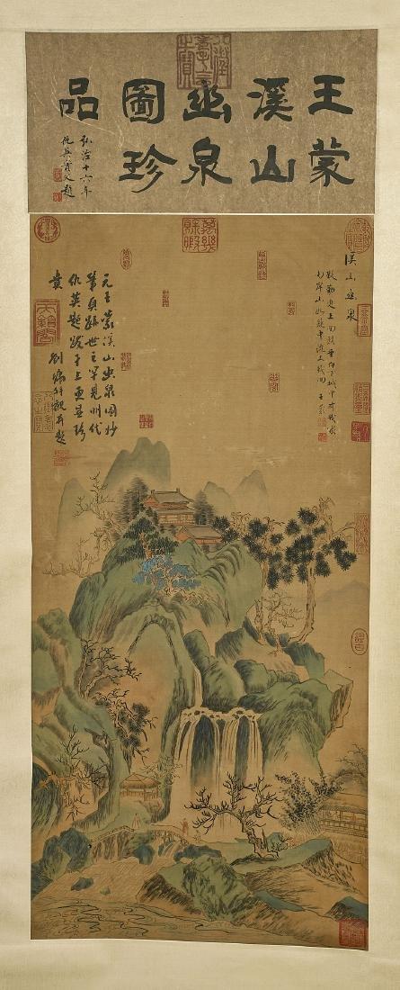 Two Chinese Silk Scrolls: After Tang Yin & Wang Meng