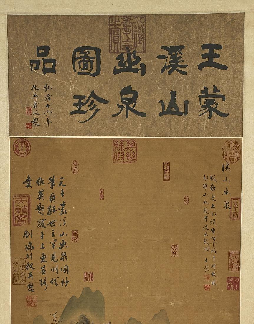 Two Chinese Silk Scrolls: After Tang Yin & Wang Meng - 2