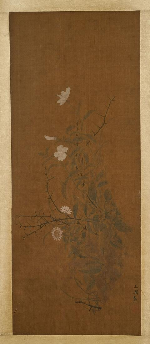 Two Chinese Scrolls: Flora & Fauna - 3