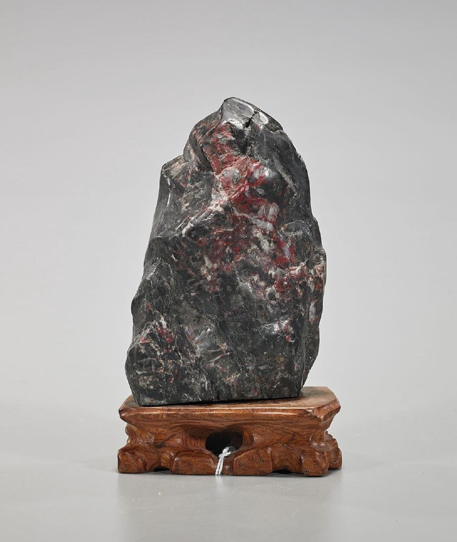 Old Chinese Carved Soapstone Mountain
