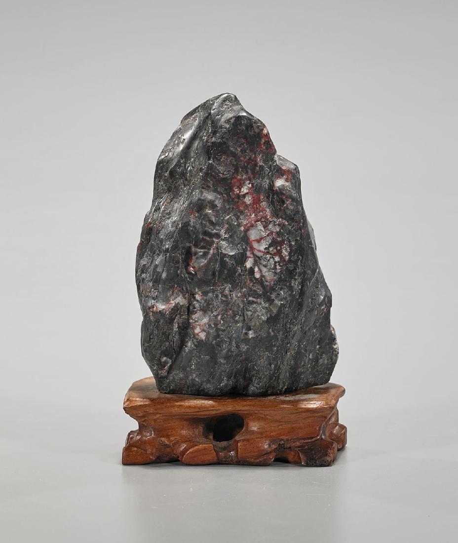 Old Chinese Carved Soapstone Mountain - 2