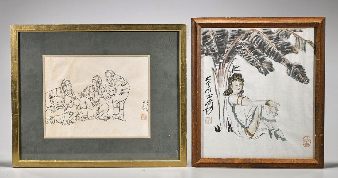 Two Chinese Paintings on Paper
