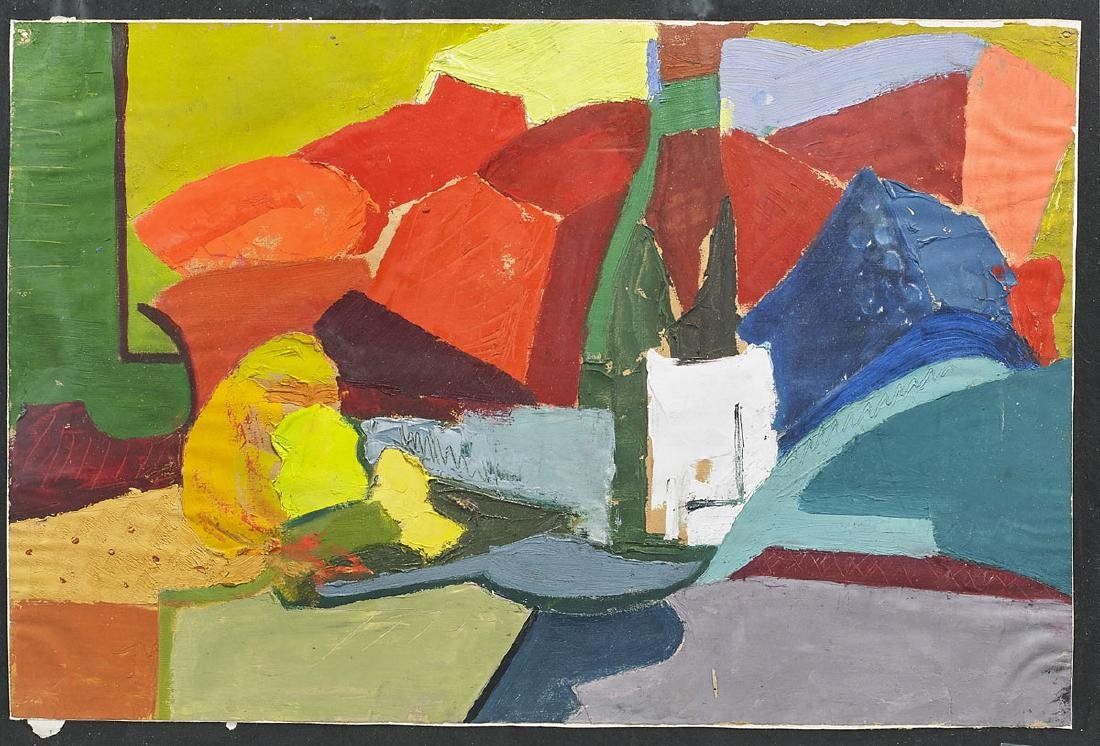 Two Oil on Paper Paintings After Hans Hoffman