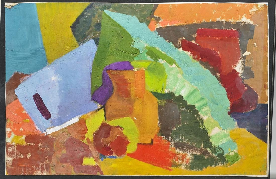 Two Oil on Paper Paintings After Hans Hoffman - 2