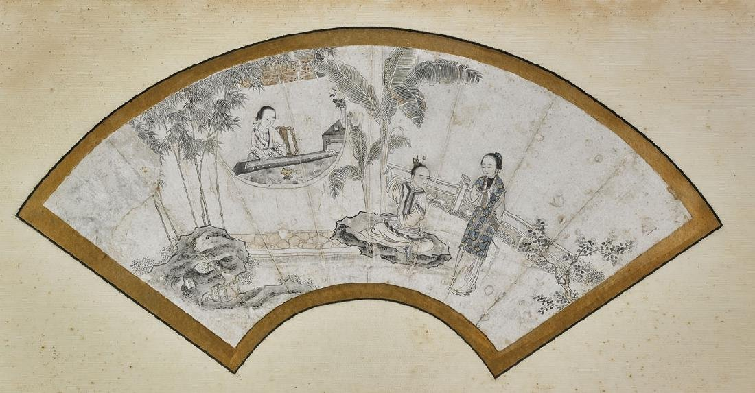 Group of Nine Various Chinese Fan Paintings - 2