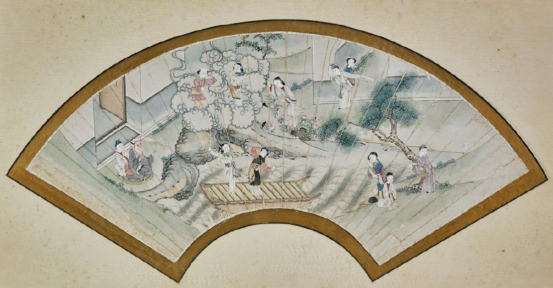 Group of Nine Various Chinese Fan Paintings - 6