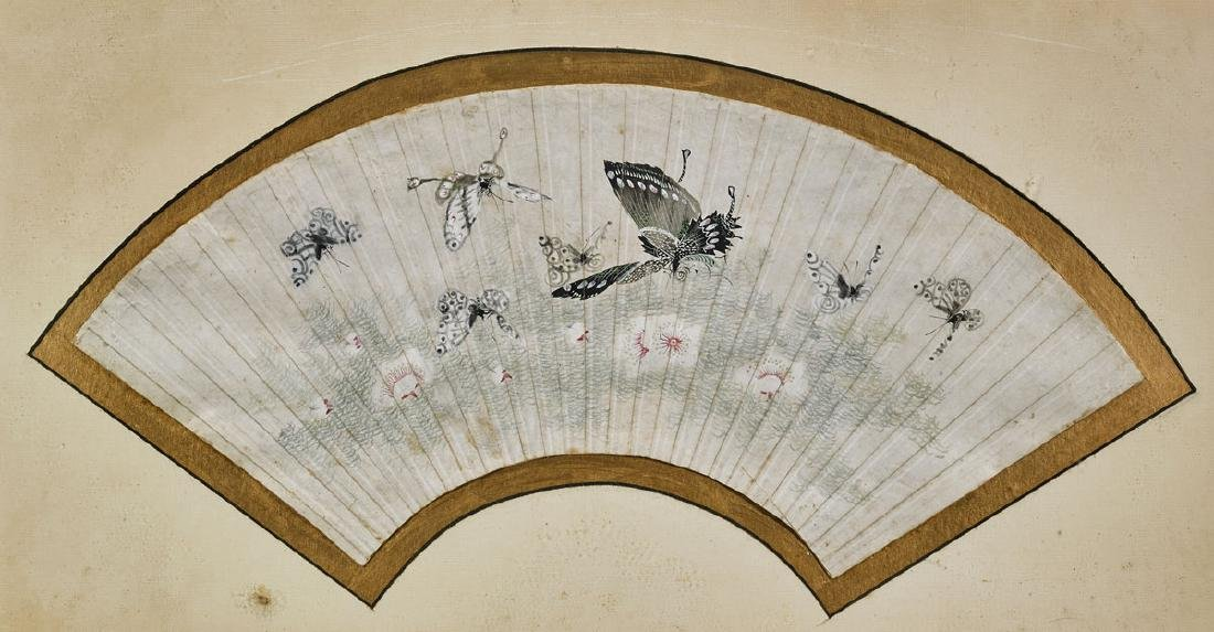 Group of Nine Various Chinese Fan Paintings - 8
