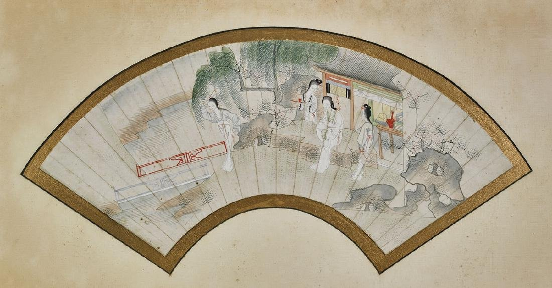 Group of Nine Various Chinese Fan Paintings - 9
