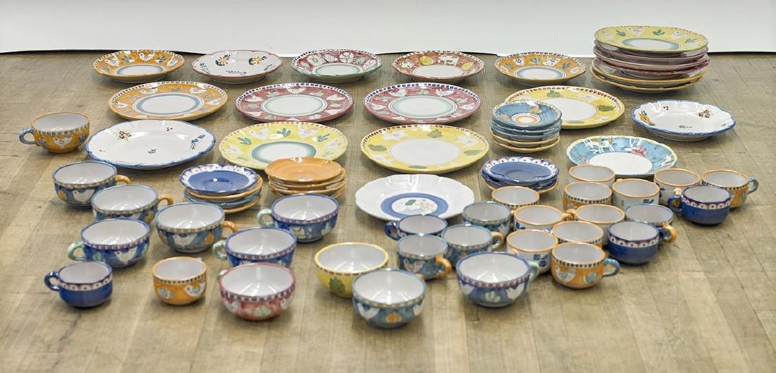 Massive Collection of Italian Solimene Vietri Pottery