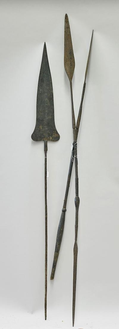 Group Three African Metal Spears