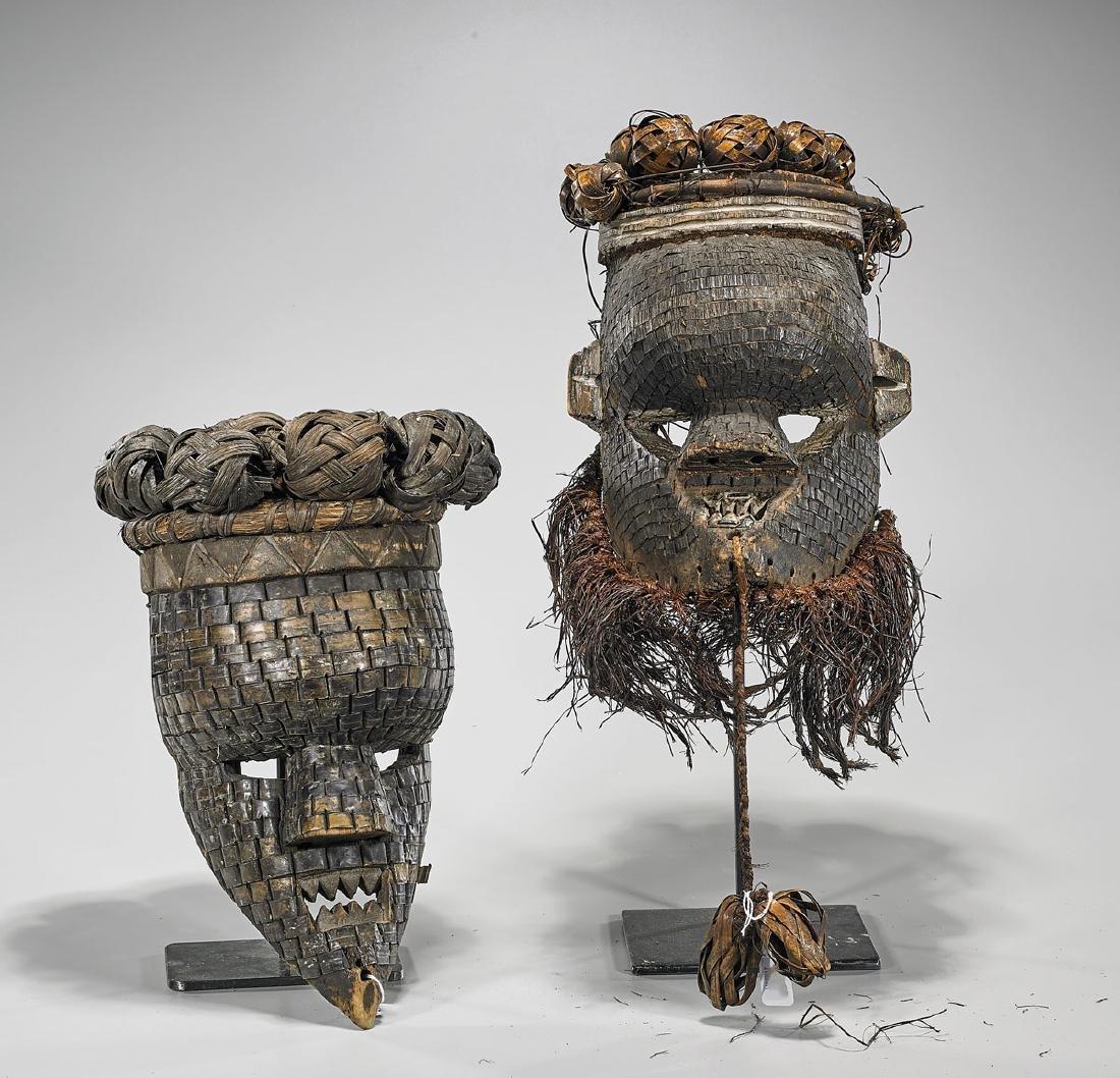 Two Salampasu 'Mukinka' Masks