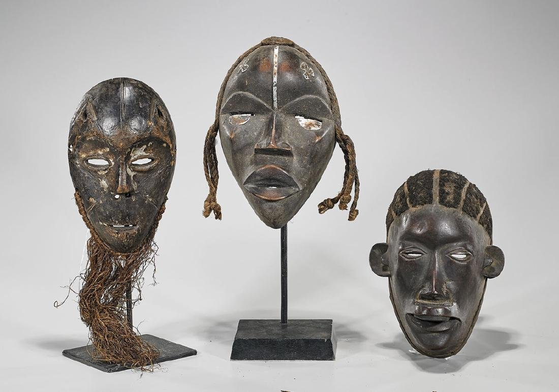 Three Various African Wood Masks