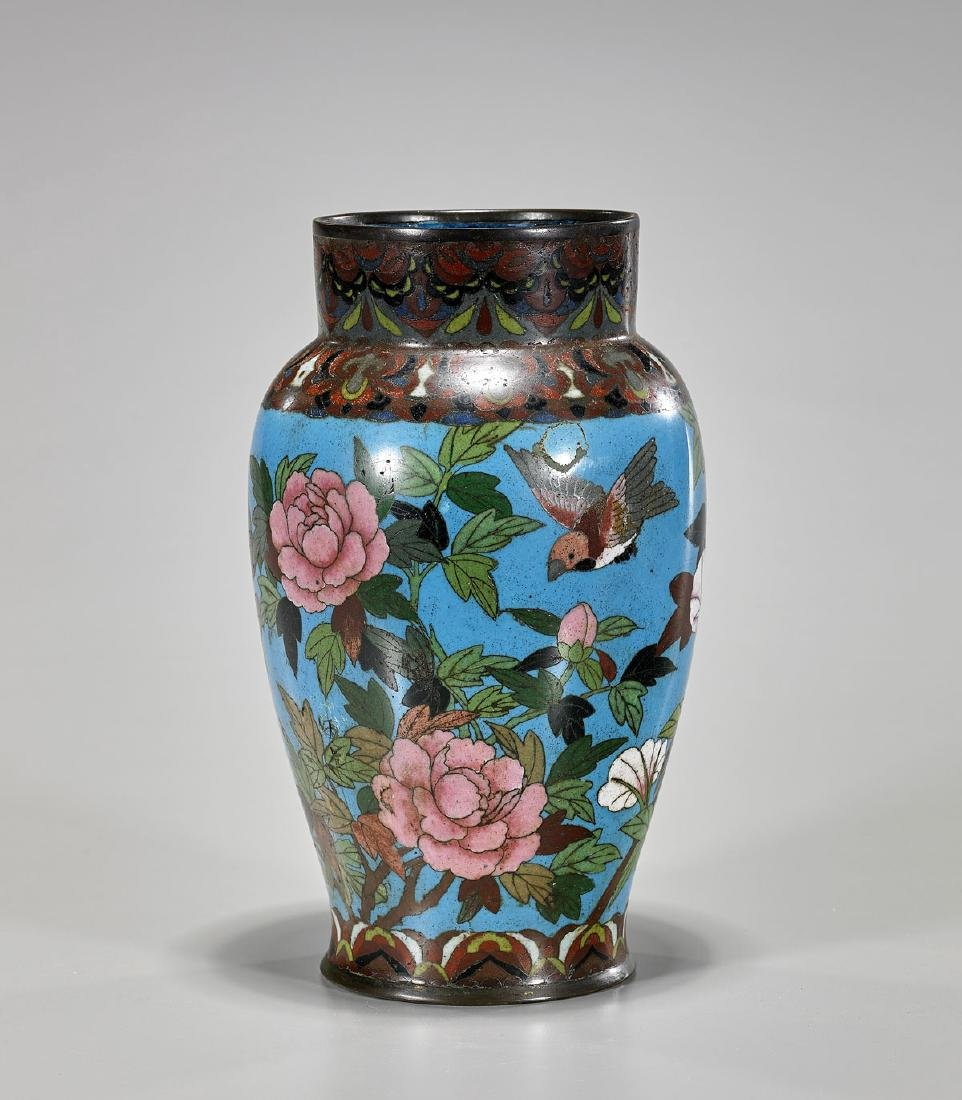 Antique Japanese Cloisonne Enamel Vase