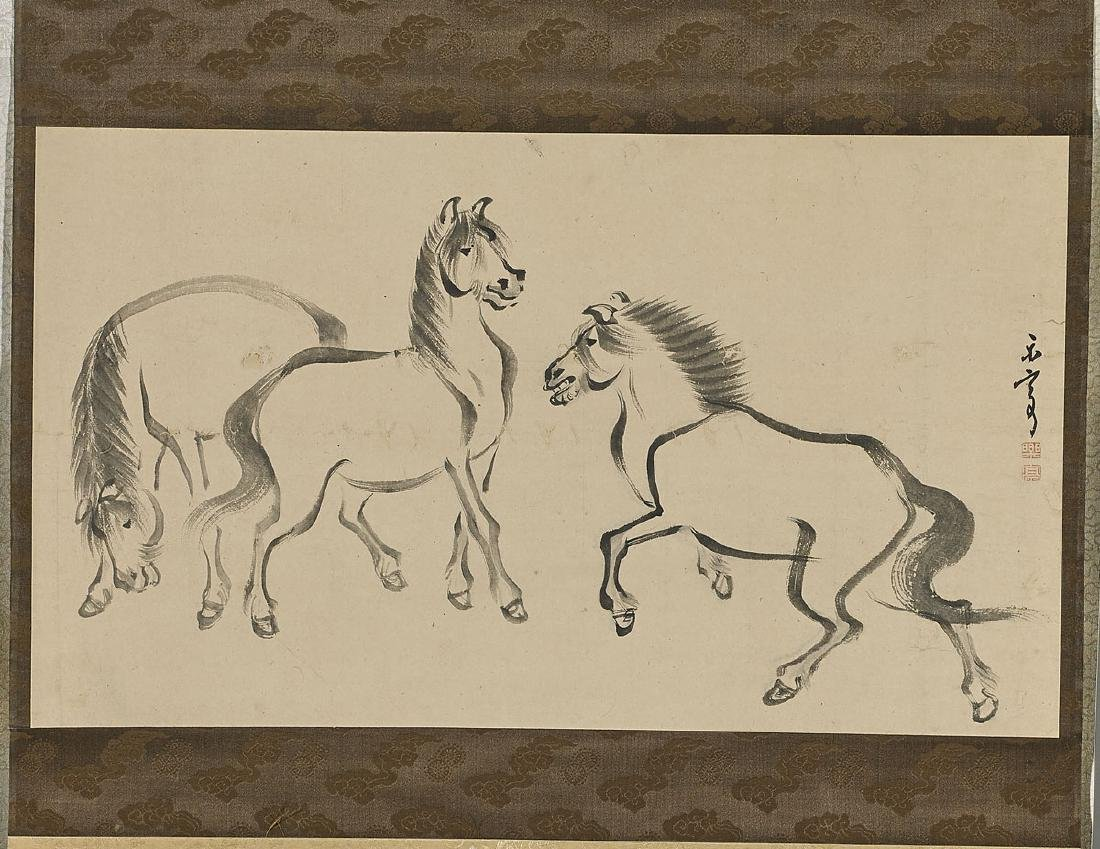 Group of Four Japanese Scroll Paintings - 3