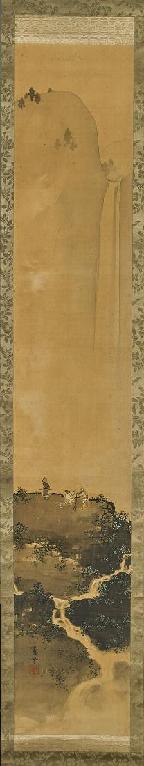 Antique Japanese Silk Scroll