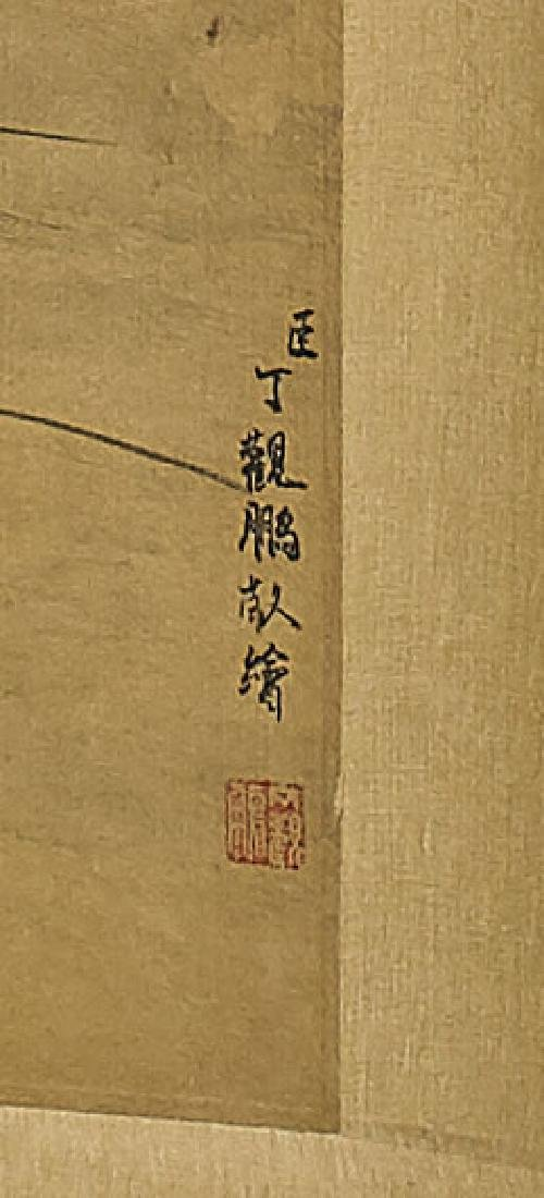Two Chinese Silk Scrolls: Figural Scenes - 4